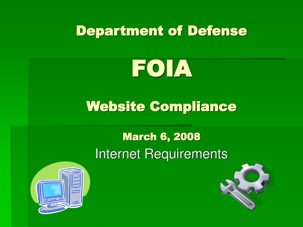 department of defense foia website compliance march 6 2008