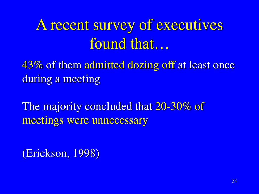 A recent survey of executives found that…