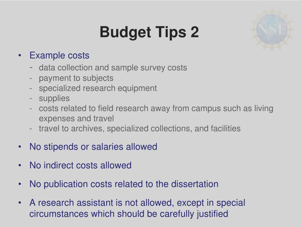 Budget Tips 2
