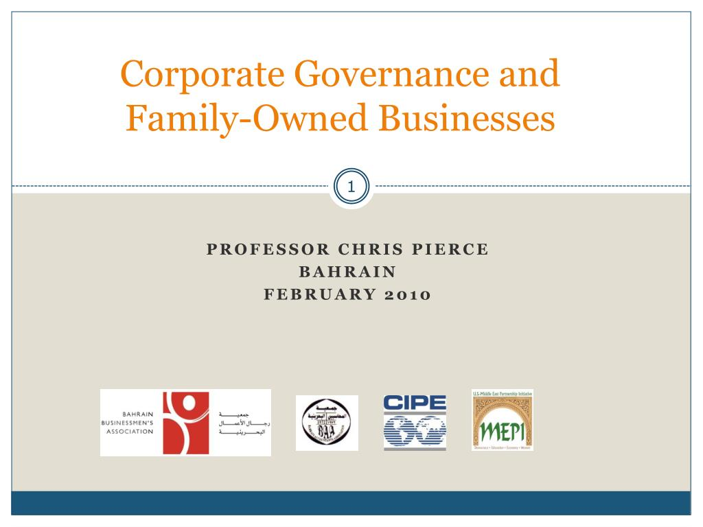corporate governance and family owned businesses l.