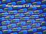 mechanisms of action10
