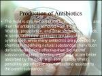 production of antibiotics16