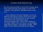 citation web referencing