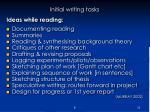 initial writing tasks