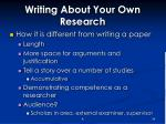 writing about your own research