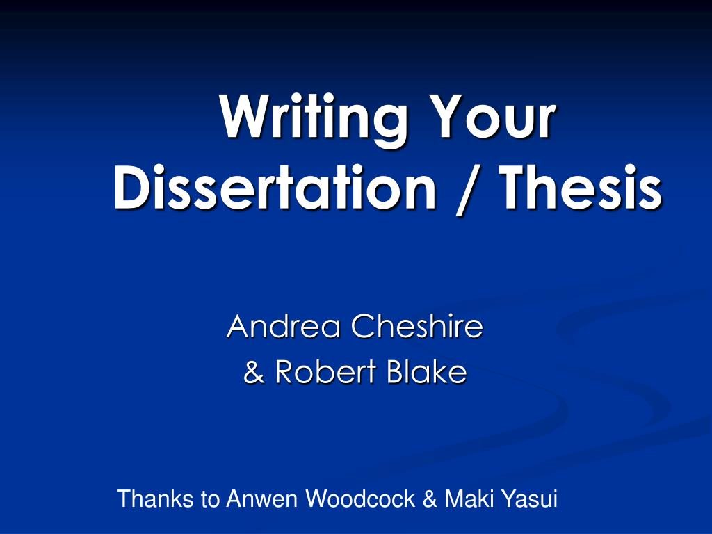 Journalism dissertation thesis