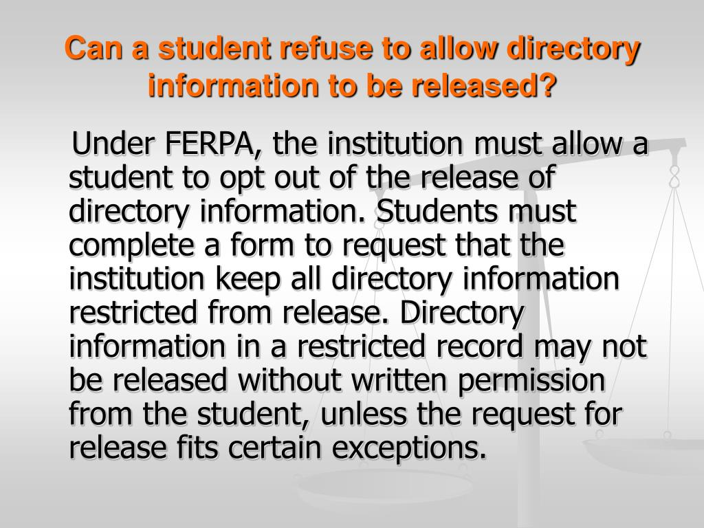ferpa form clemson  PPT - Understanding FERPA & the Family Personal Privacy Act ...
