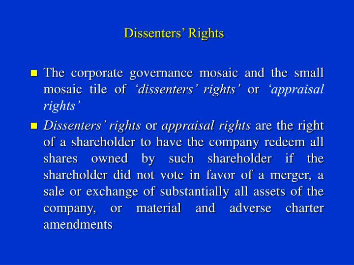 Dissenters rights2