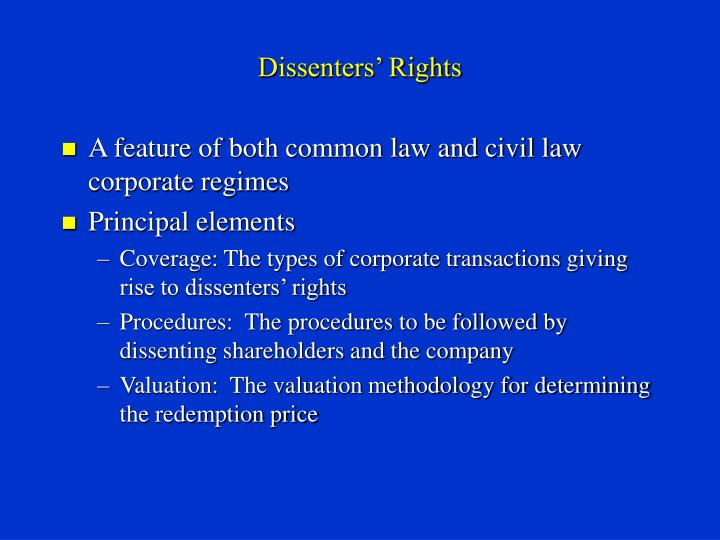 Dissenters rights3