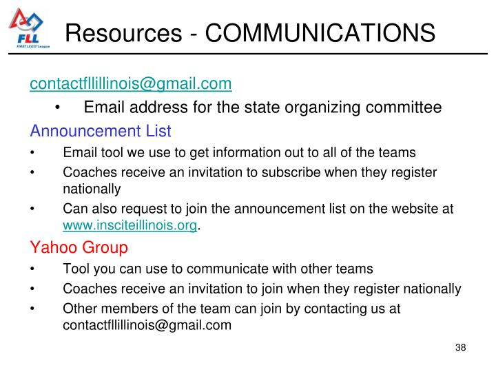 Resources - COMMUNICATIONS