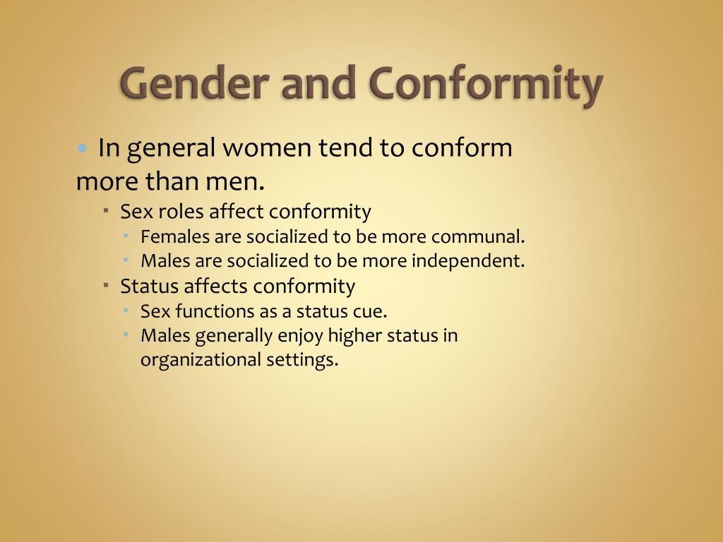Gender and Conformity