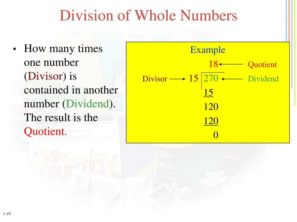 Division of Whole Numbers