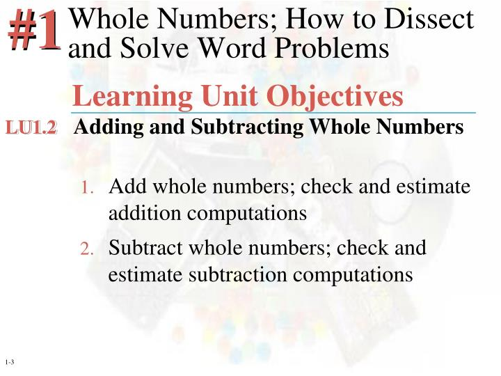 Whole numbers how to dissect and solve word problems3