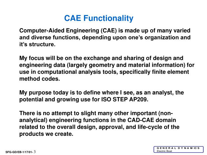 CAE Functionality