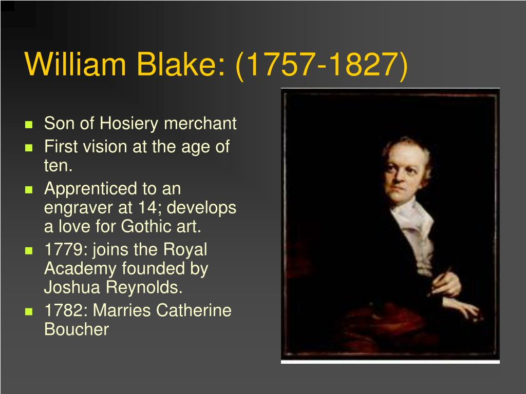 a brief biography of william blake William blake (1757 - 1827) short biography  birth william blake was born at 28 broad street, golden square, soho, where his father had a hosiery business.