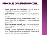 principles of leadership cont