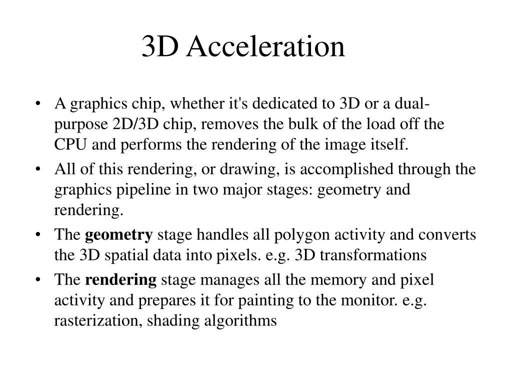 3D Acceleration