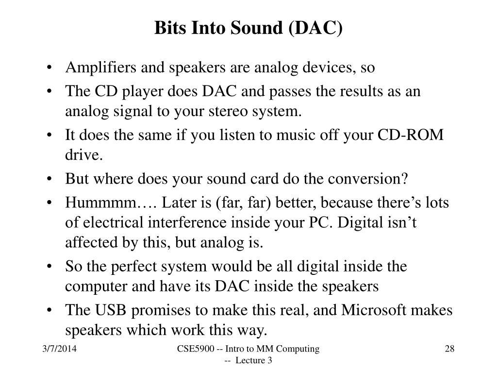 Bits Into Sound (DAC)