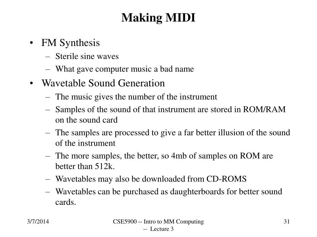 Making MIDI