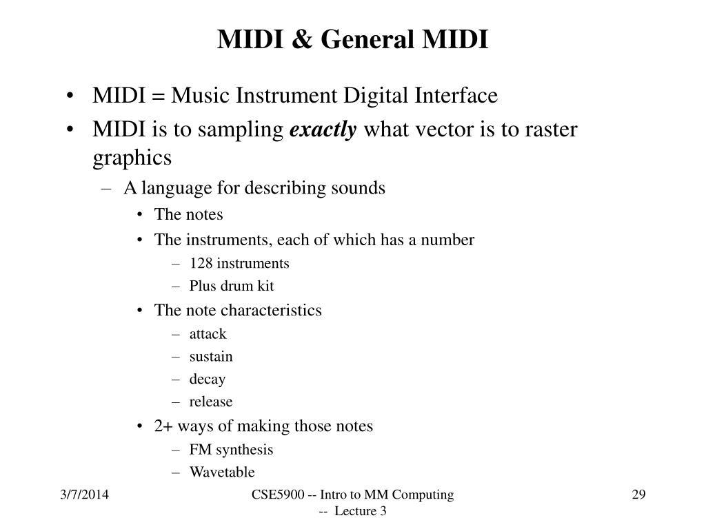 MIDI & General MIDI
