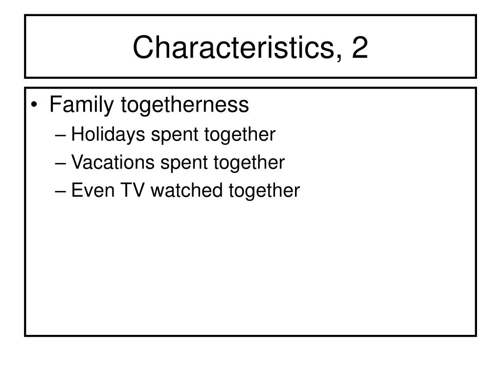 Characteristics, 2