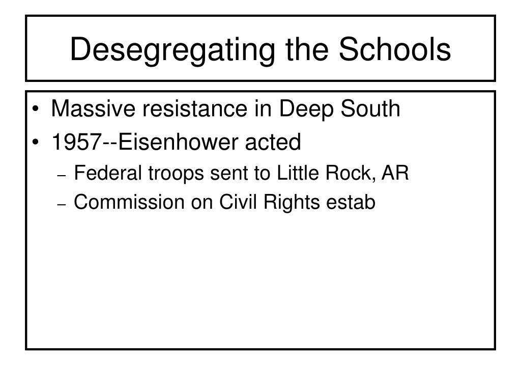 Desegregating the Schools