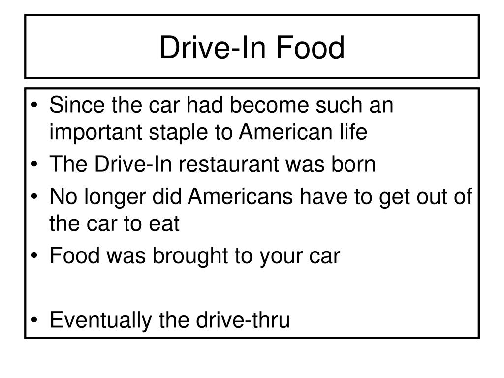 Drive-In Food