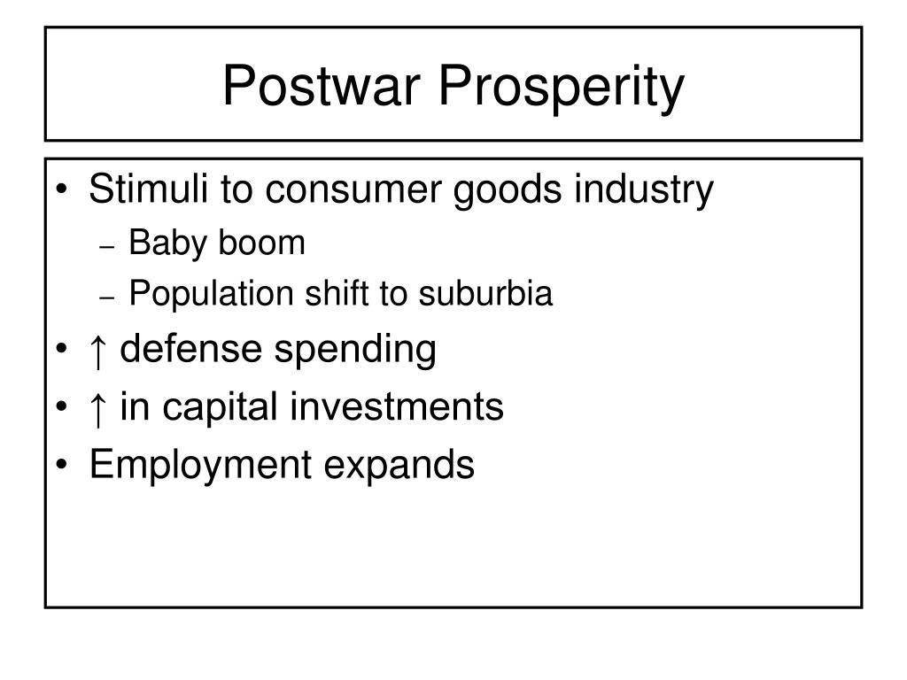 Postwar Prosperity