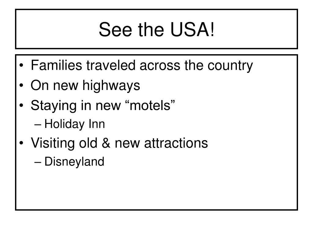 See the USA!