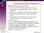 responsible party database requirements17