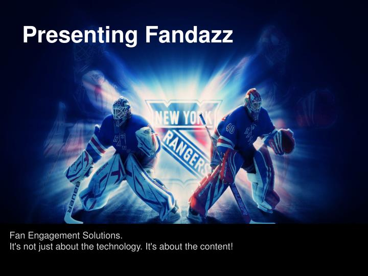 Presenting fandazz