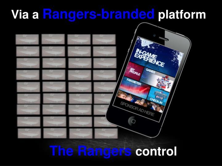 The rangers control