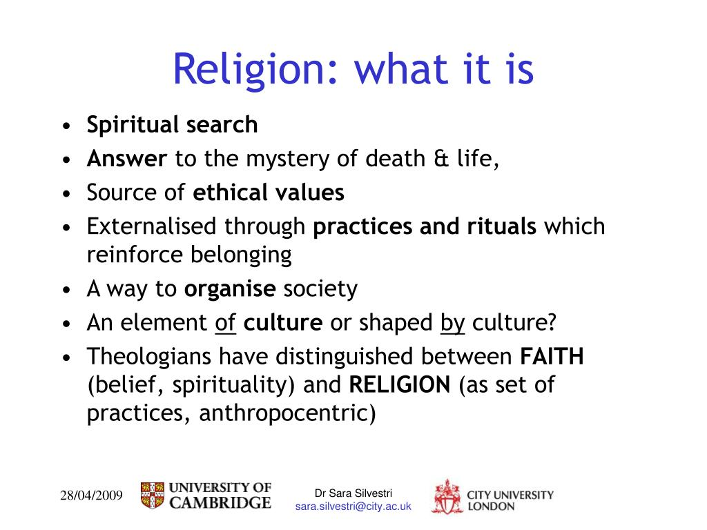 Religion: what it is