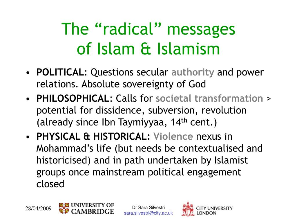 "The ""radical"" messages"