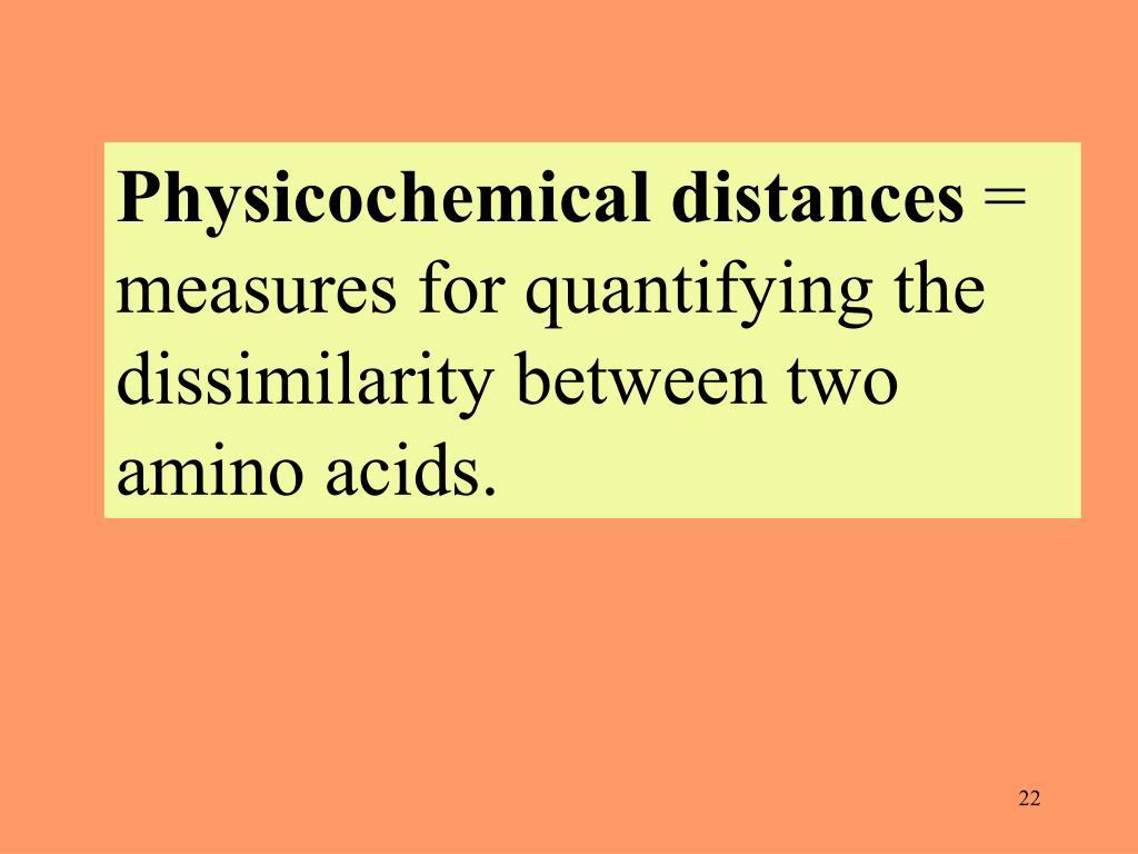 Physicochemical distances
