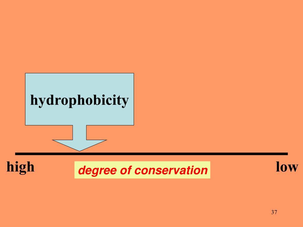 hydrophobicity