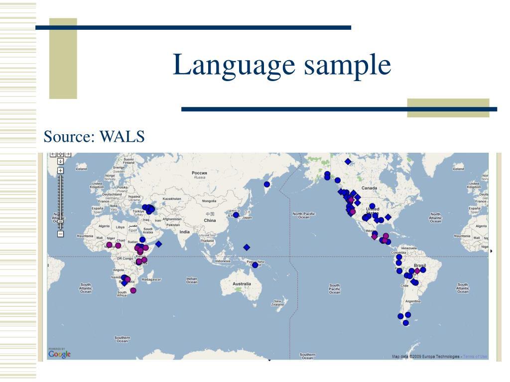 Language sample