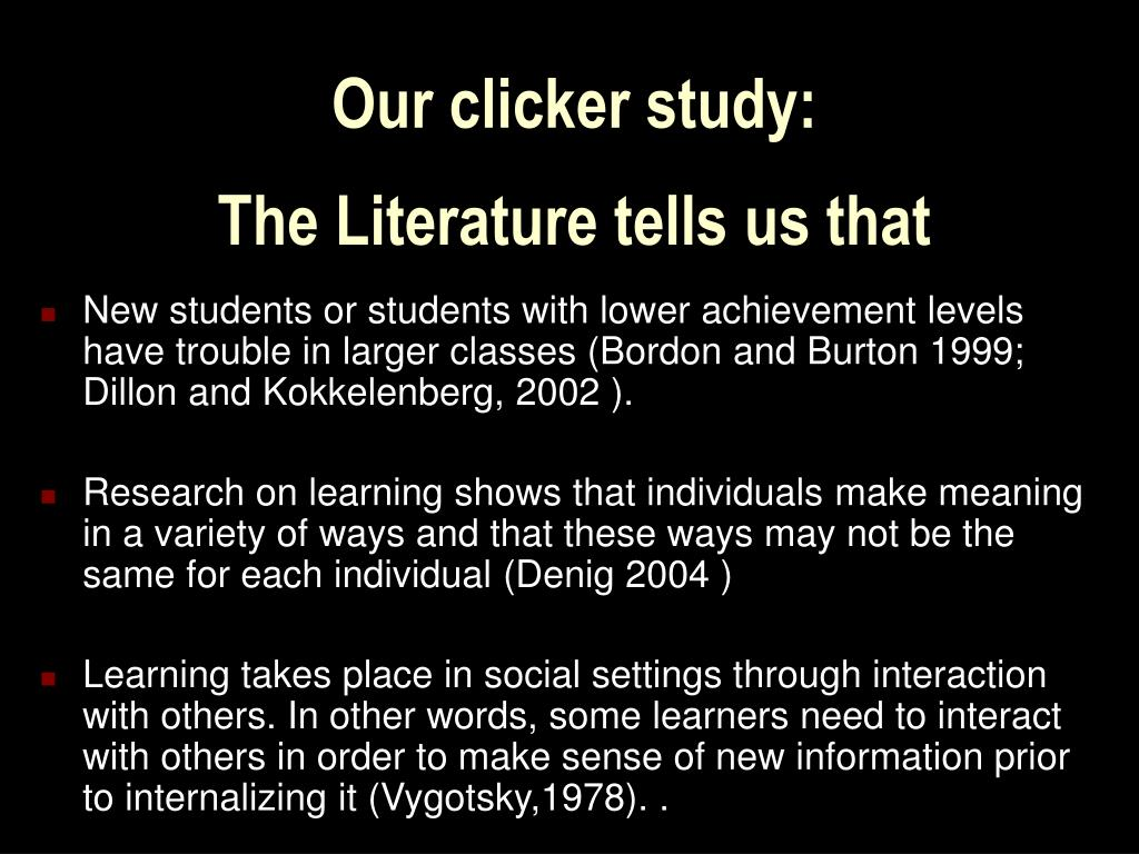 Our clicker study: