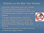 diversity on the new york yankees