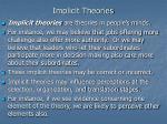 implicit theories