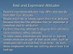 real and expressed attitudes