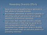 rewarding diversity efforts