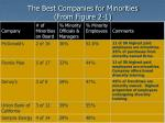 the best companies for minorities from figure 2 1