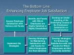 the bottom line enhancing employee job satisfaction
