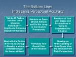 the bottom line increasing perceptual accuracy