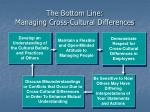 the bottom line managing cross cultural differences
