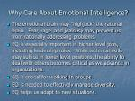 why care about emotional intelligence