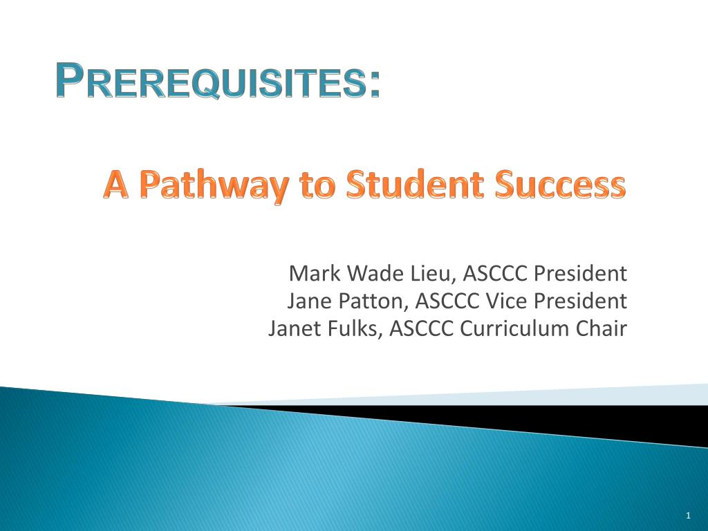 a pathway to student success l.