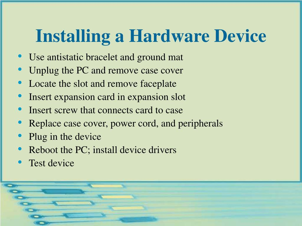 Installing a Hardware Device