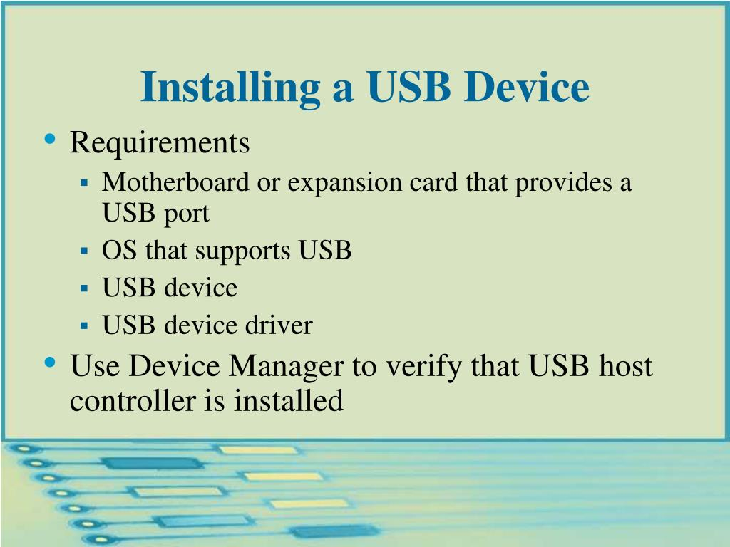 Installing a USB Device